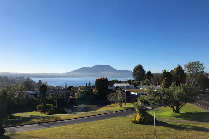 Views of Lake Taupo and Mount Tauhara