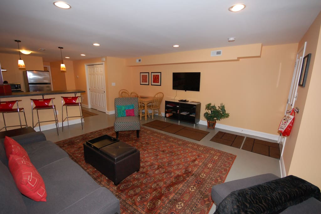 Spacious updated living room