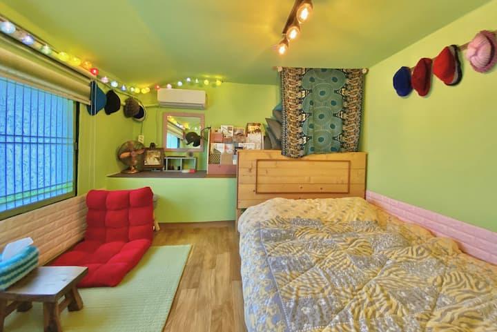 *그린개인실* 1~2인실 제주 농가주택의 편안한 휴식 뿐(PPOON) 게스트하우스~^^