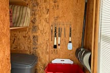 Grill tools and storage