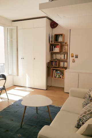 STUDIO COZY AND LUMINOUS CLOSE TO MONTMARTRE IN PARIS FOR 2 PEOPLE.