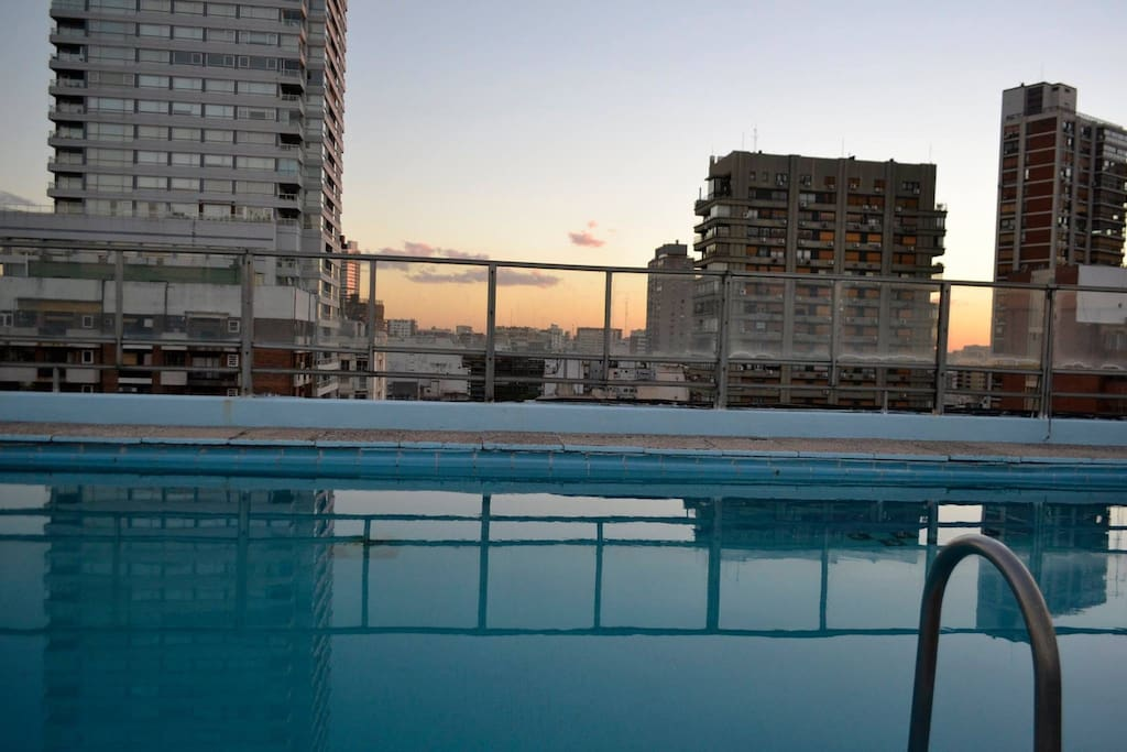 You will love the rooftop pool!