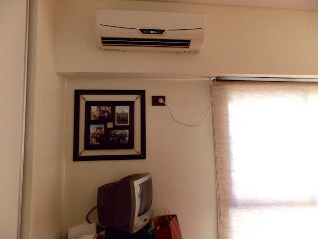 A/C unit that refrigerates the entire apartment in just a few minutes.