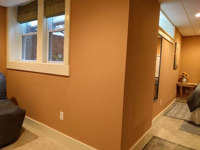 The alcove and the Master Bedroom