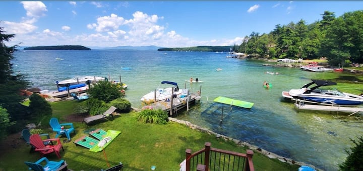 Waterfront located in private cove with sandbar!