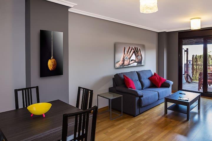 Estupendo piso con terraza - Posada - Appartement