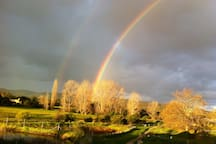 Rainbows over the Bega River