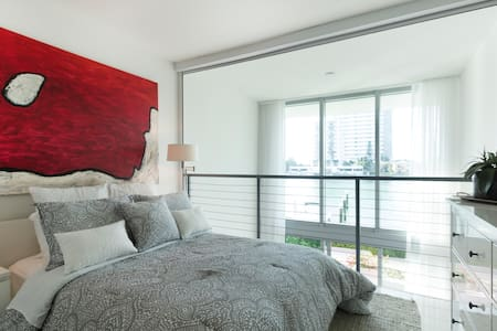 Chic bedroom in fabulous Miami flat - North Bay Village - Řadový dům