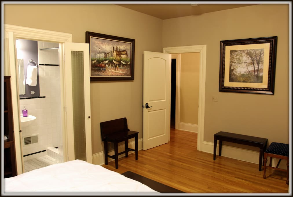 Your private bathroom; only accessible from your bedroom.