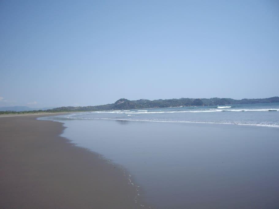 View from beach toward Manuel Antonio