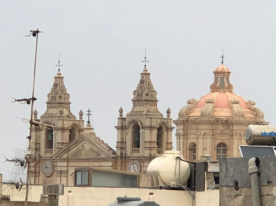 Rooftop view of the Con Cathedral Mdina