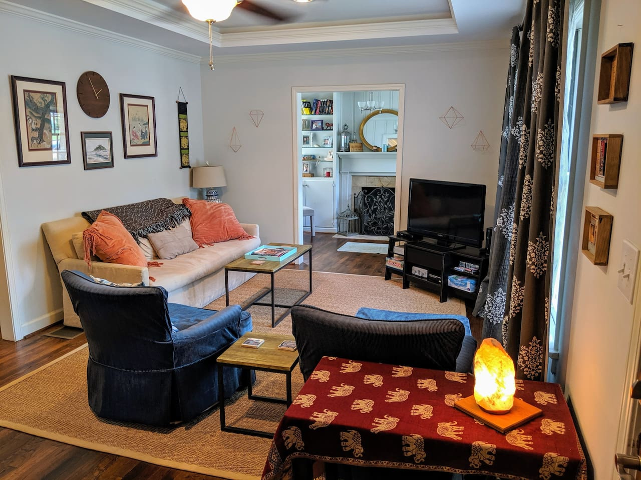 Beautiful and Spacious living room that welcomes you to the home with an adjacent office space!