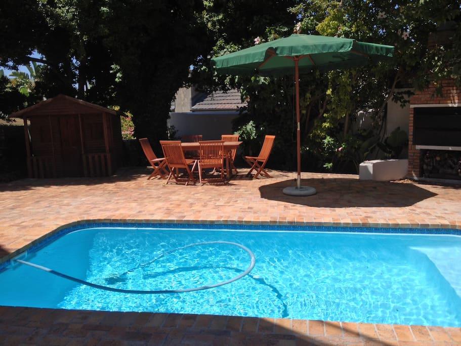 Swimming pool and braai area