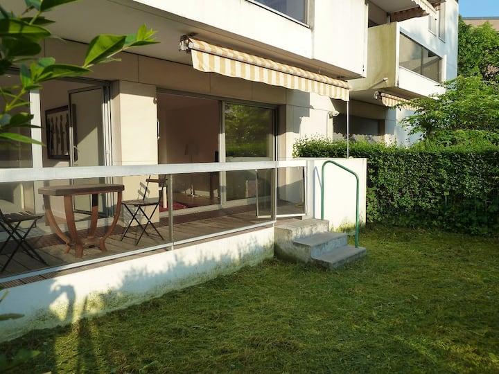 Appartement 2 pièces 50m2 avec terrasse et jardin