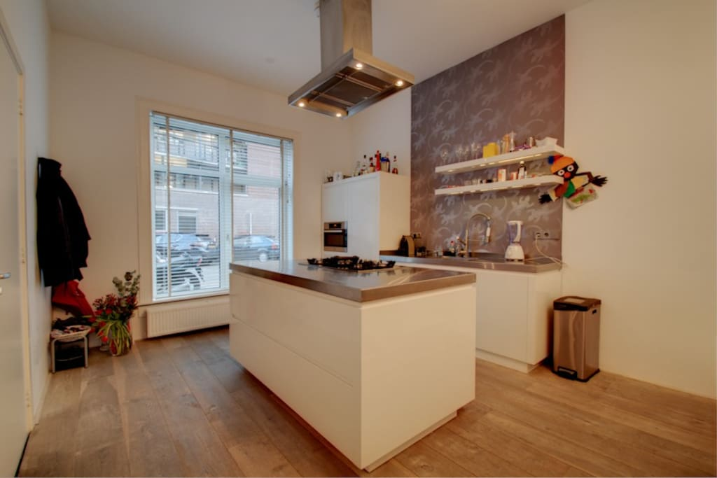 fully equipped kitchen with big island