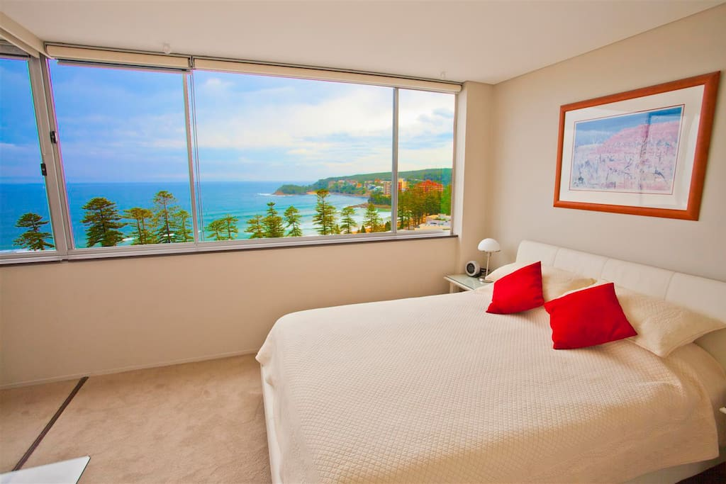 Panoramic views even from bed!