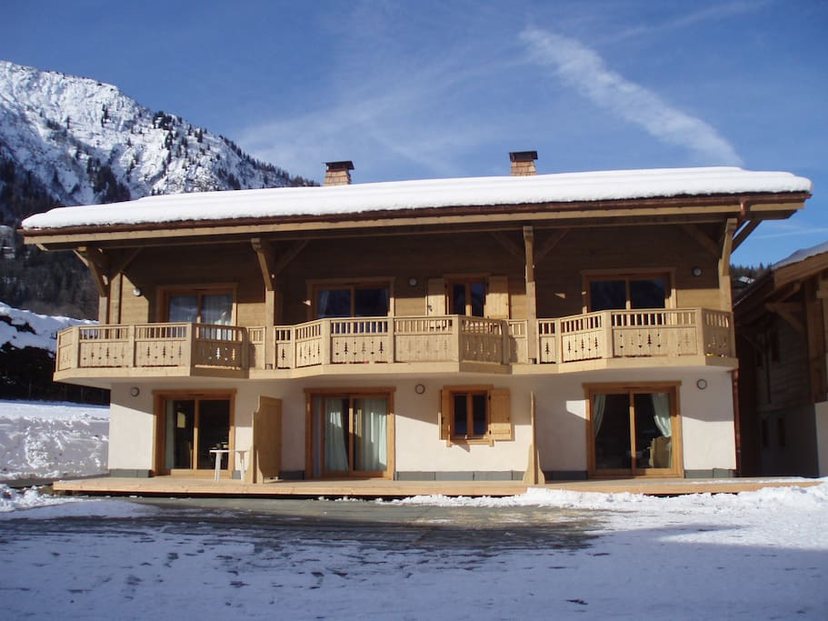 Apartment is a 95 sqm duplex 3 bedroom apartment in one of the Chalets)