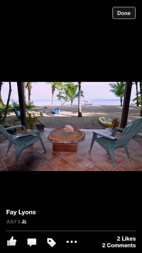 Your private sitting area on the beach.  Picture taken from hammock.