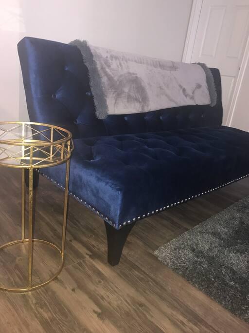 Royal Blue futon