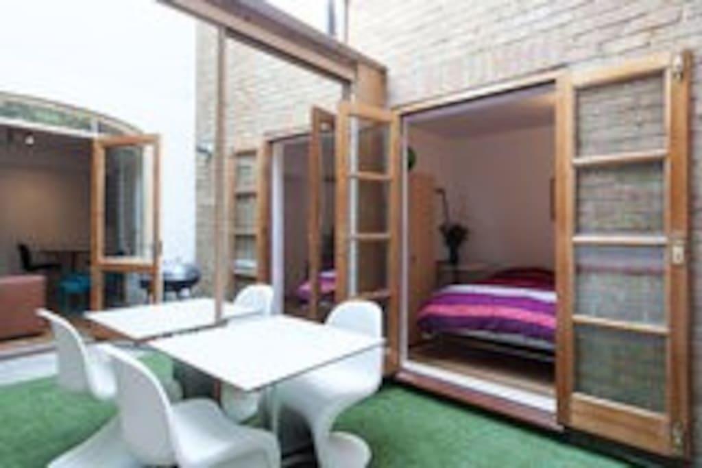 Enclosed private rear garden
