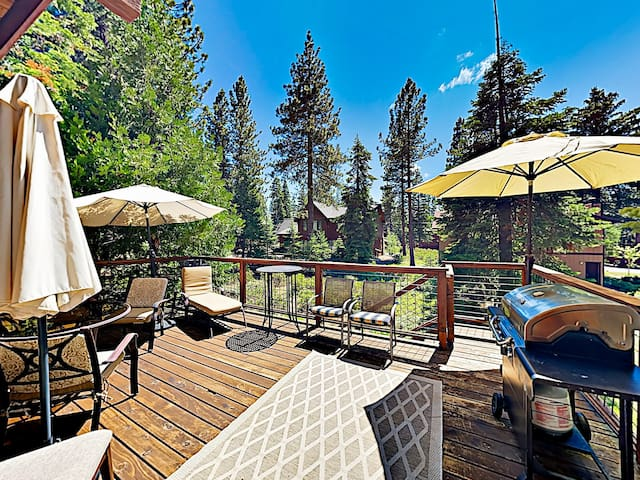 Soak up the sun on a private deck, with plenty of outdoor seating and a gas grill.
