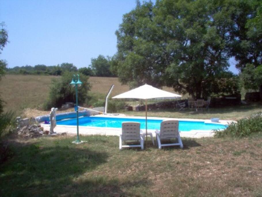 Het Privé zwembad.