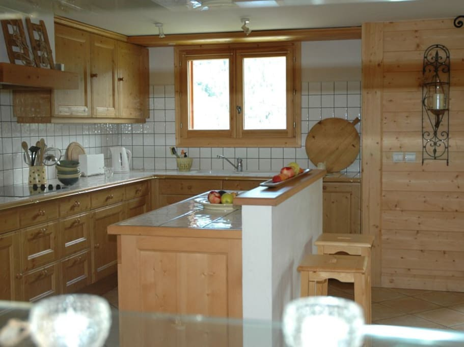 kitchen with cooking Island good for entertaining !!
