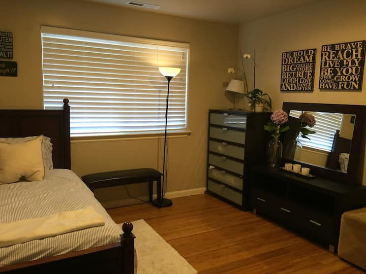 Newer clean home with a private bedroom