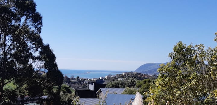 Seaviews and birdsong in sunny Nelson