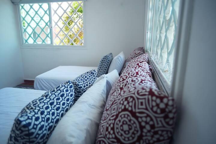 Habitación con cama Matrimonial e individual