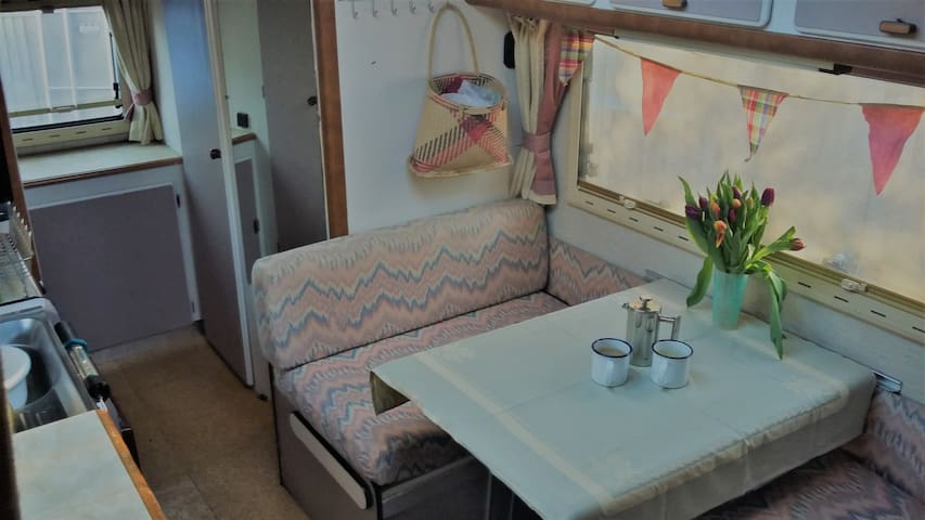 Single bed / seating dining area