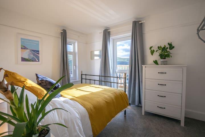 Bedroom 1 with door to balcony