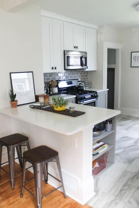 Shared kitchen on the main floor.