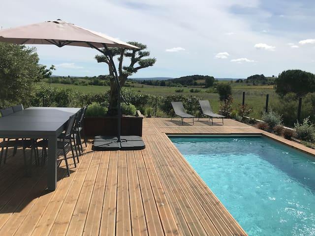 Maison 6 personnes, 3 chambres, piscine privée