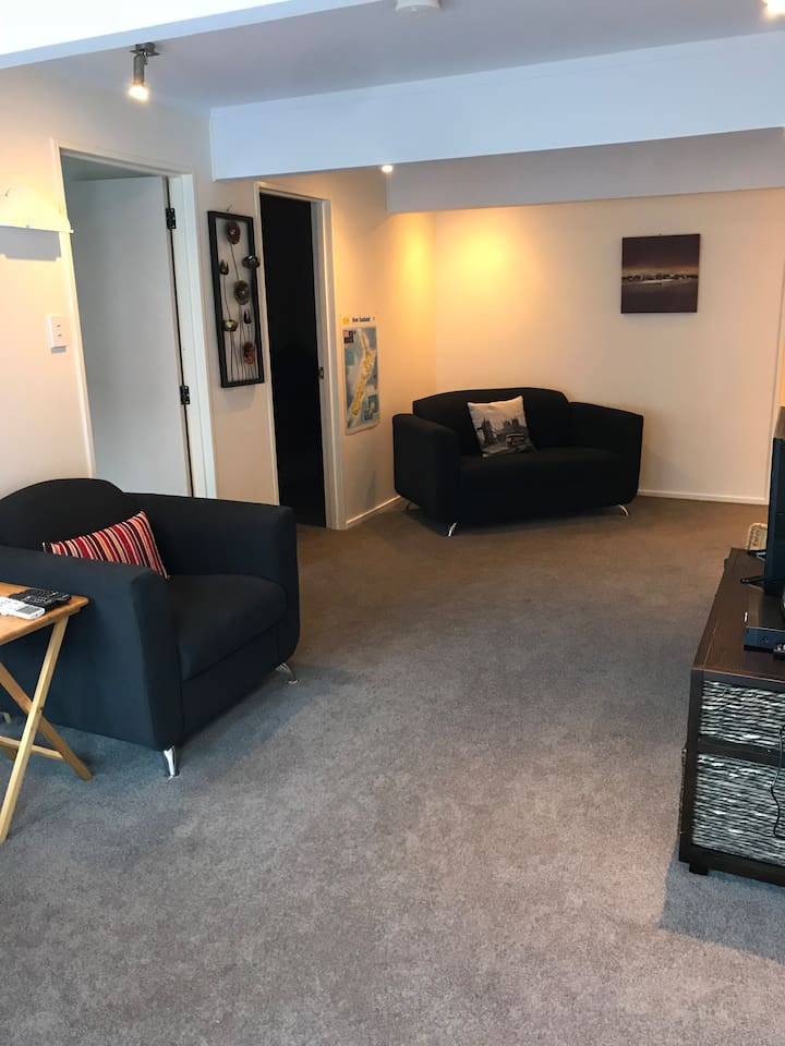 Living space - seating, Freeview TV, heat pump