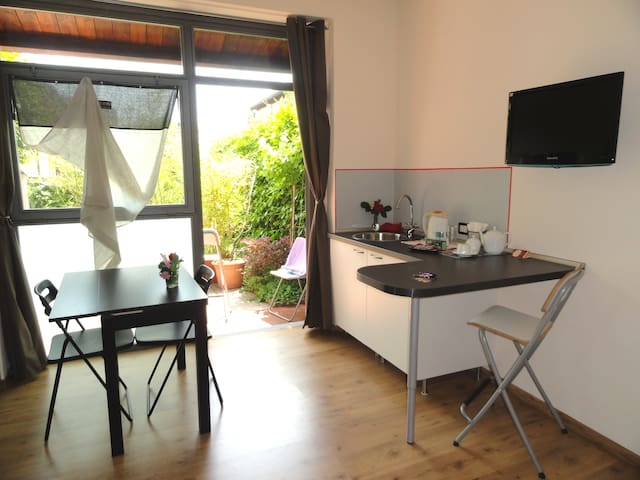 Sunny private room own bath/ garden - San Giovanni in Persiceto - Penzion (B&B)