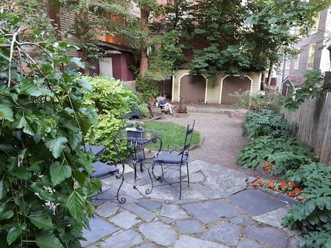 Victorian garden apartment