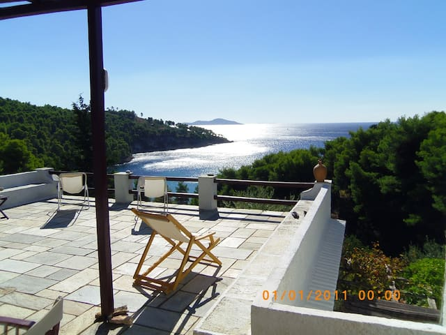 Secluded villa surrounded by trees - alonissos - Villa