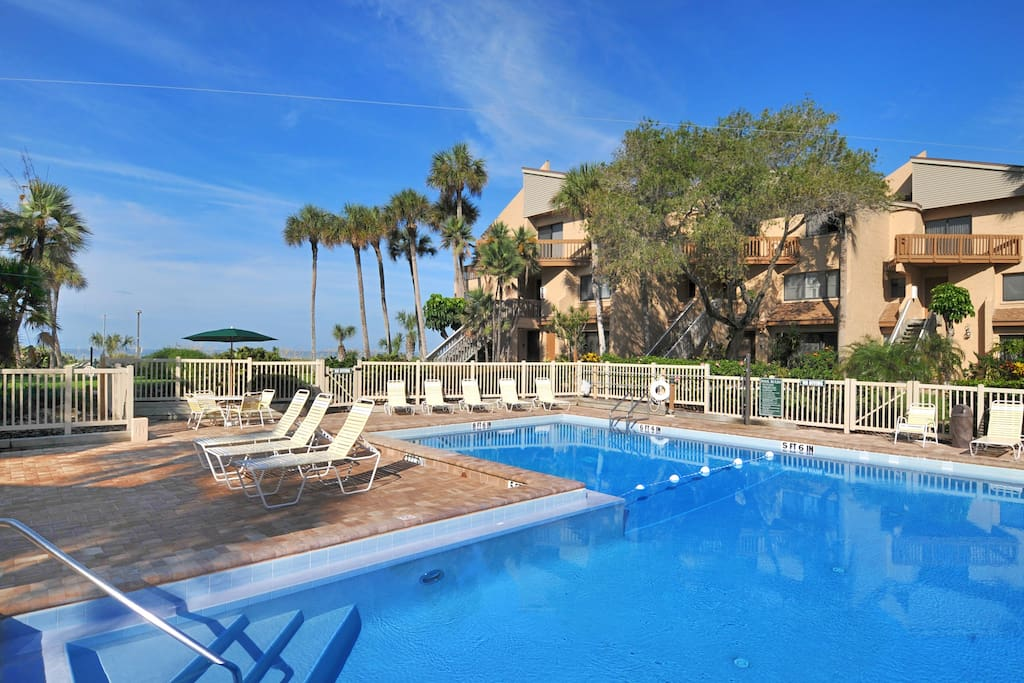 Located Steps from the Gulf Front Pool