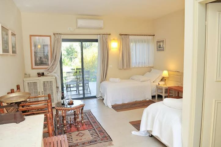 King/twin beds Room with a balcony - Rosh Pina - Bed & Breakfast