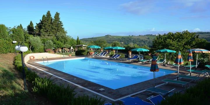 Spazioso Appartamento nel Chianti con piscina