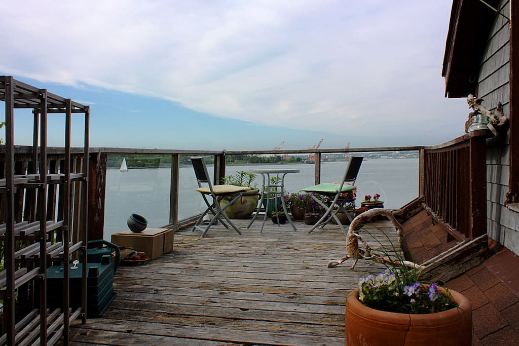 Stop and enjoy the small deck garden, as you take in the view. Glass panels in the railings so your view of the seals is unobstructed...*The deck and deck furniture are now all brand new. Updated photos to come!