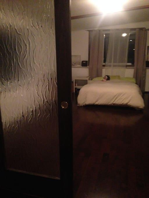 Chambre semi privé avec porte française