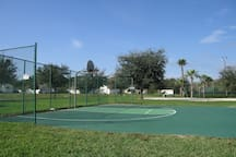 Basketball and tennis courts