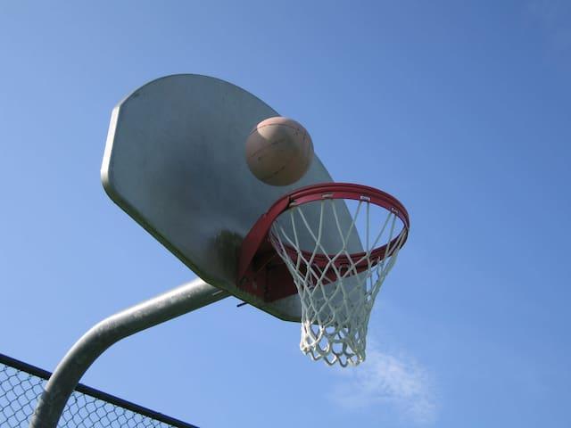 Great fun shooting some hoops