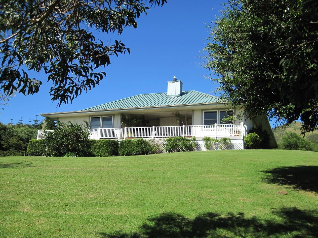 A beautiful Waimea home with spectacular Mauna Kea views from the large lanai.