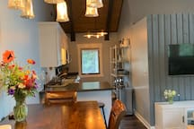 Common area - kitchen and dining area