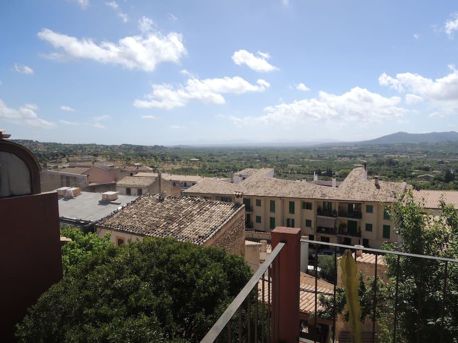 View from the roof top terrace