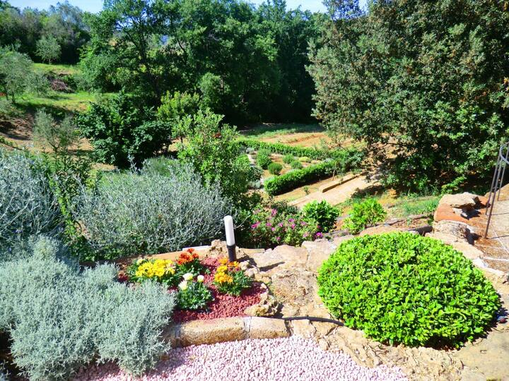 Appartamento con giardino in Agriturismo Bio