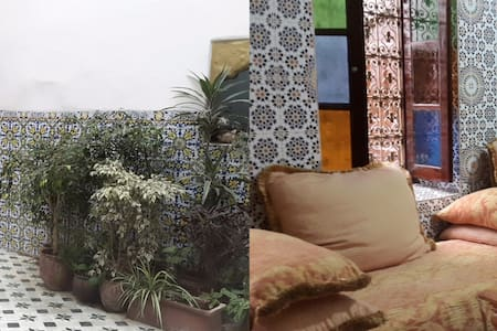 A room in a typical Moroccan house in the Medina